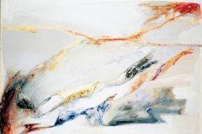 Farsi rete - 2003, acrilico su tela, cm. 120x160