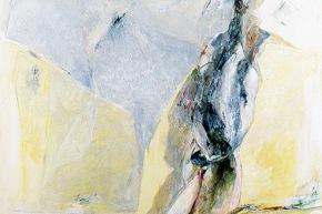 Ragazza con le pinne - 12/2003, acrilico su tela, cm. 200x130