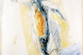 Pescatori - 10/2003, acrilico su tela, cm. 200x130