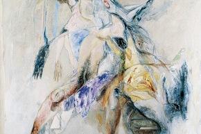 Discorso sulla madre - 10/2003, acrilico su tela, cm. 200x160