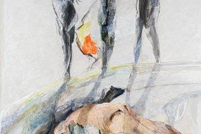Ombre del futuro - 2008, acrilico su tela, cm. 300x200