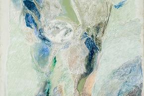 Chiaro di luna - 2008, acrilico su tela, cm. 200x114