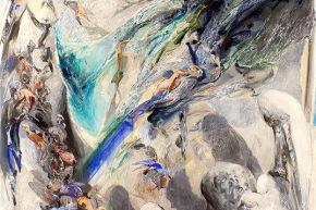 Presentimento d'acqua - 2008, acrilico su tela, cm. 206x145
