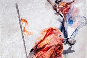 Il pensiero nel corpo - 2010, acrilico su tela, cm. 300x200