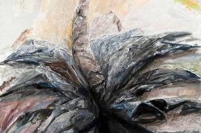 Cadute dall'alto - 2011, acrilico su tela, cm. 200x150