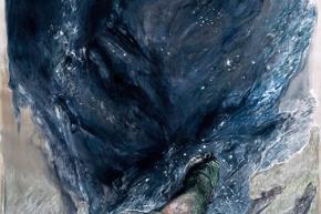 Le sbarre delle stelle - 08/2013, acrilico su tela, cm. 180x120