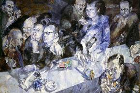 La giuria - 1959, olio su tela, cm. 133x180