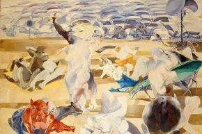 Quando viene l'estate - 1965, olio su tela, cm. 140x180