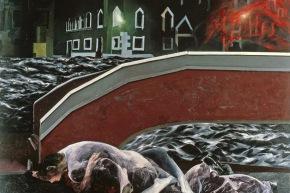 Debole trasgressività del rosso - 1978, olio su tela, cm. 170x200