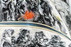 Sole riflesso - 1987, olio su tela, cm. 330x200