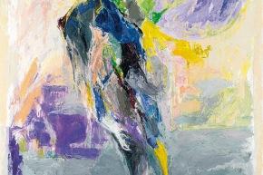 Farsi paesaggio - 1991, acrilico su tela, cm. 160x120