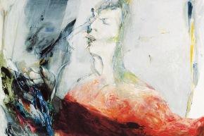 Autoritratto: la luce della mente - 2003, acrilico su tela, cm. 80x100