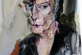 Autoritratto: omaggio a Rembrandt - 2006, acrilico su tela, cm. 50x40