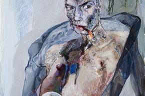 Autoritratto: l'inutile sforzo della luce - 2009, acrilico su tela, cm. 90x70
