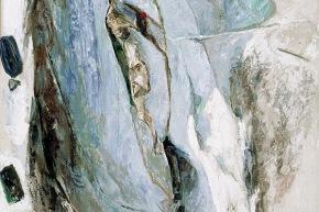 Uomo che guarda il mare - 1992, acrilico su tela, cm. 160x120