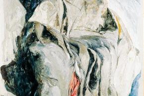 Si è insediata fra gli scogli - 1994, acrilico su tela, cm. 150x190