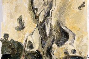 Nutrirsi dal mare - 1994, acrilico su tela, cm. 150x100