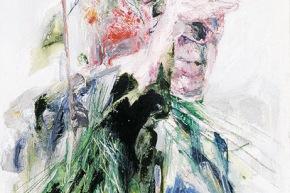 L'uomo dentro - 2002, acrilico su tela, cm. 80x50