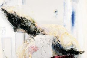Il dolore è trasversale - 2002, acrilico su tela, cm. 100x100