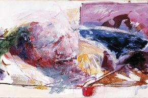 Stupore della carne - 2002, acrilico su tela, cm. 40x80