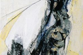"""Studio per """"suggestioni della secolarità"""" - 2002, acrilico su tela, cm. 40x30"""