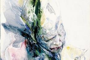 Le linee del dolore - 2005, acrilico su tela, cm. 70x70
