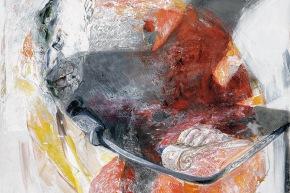 L'ombra sul corpo - 2005, acrilico su tela, cm. 70x90