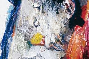 Benedetto XVI - 2006, acrilico su tela, cm. 50x40