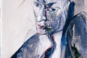 """Studio per """" un ritratto n° 2 - 2006 acrilico su tela, cm. 50x40"""
