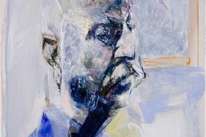 Studio per ritratto di Benedetto Croce - 2007, acrilico su tela, cm. 70x50