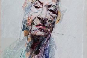 """Studio per """"un ritratto"""" - 2007, acrilico su tela, cm. 80x60"""
