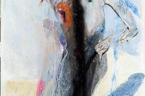 J. Luis Borges: la manovra dell'ombra - 2009, acrilico su tela, cm. 150x100