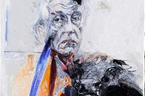 Ritratto di R. Alberti - 2009, acrilico su tela, cm. 60x60