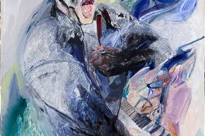 Elton John - 2010, acrilico su tela, cm. 150x100