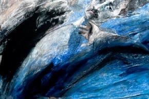 Ritratto di Marcel Proust - 2012, acrilico su tela, cm. 100x100