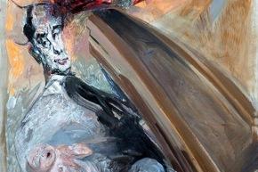 """Italo Calvino """"voglia di eterno"""" - 2013, acrilico su tela, cm. 180x120"""