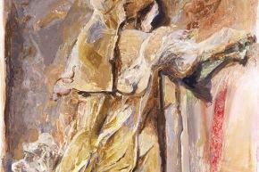 Ad petram - 1988, olio su tela, cm. 200x150