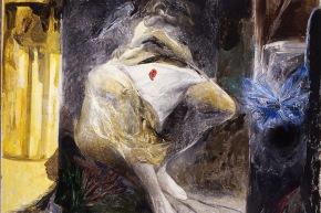 La Gradiva - 1988, olio su tela, cm. 150x160
