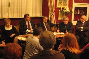 Al Caffè Greco con i poeti Spaziani, Sagnelli e Maffia - 2008