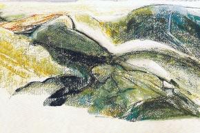Dinamismo della staticità - 1992, pastello su carta, cm. 55x76