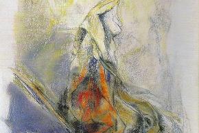 Deformare per aprire - 1998, pastello su carta, cm. 76x56