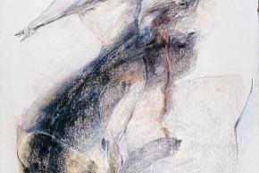 Cristo e il dormiente - 2004, pastello su carta, cm. 76x56