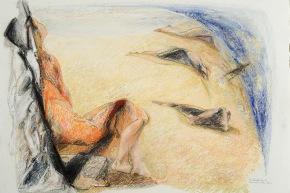 Movimento nella stasi - 2009, pastello su carta, cm. 56,5x76,5