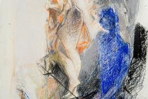 Il pescatore è fatto di mare - 2009, pastello su carta, cm. 56x38,5
