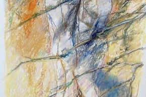 """Studio per """"chiaro di luna"""" - 2013, pastello su carta, cm. 60x40"""