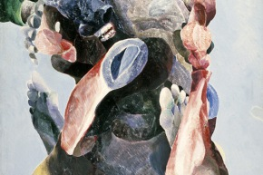 Ipotesi per un monumento equestre a Che Guevara - 1968, olio su tela, cm.110x80
