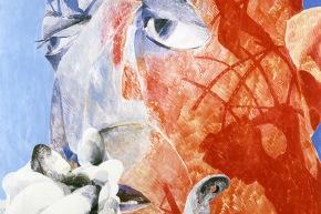Di Vittorio - 1970, olio su tavola, cm. 100x100